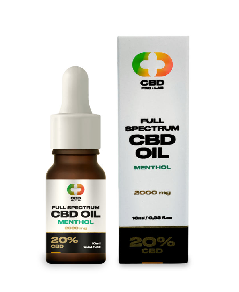 CBD Oil Full Spectrum with Menthol 20% (2000mg) 10ml