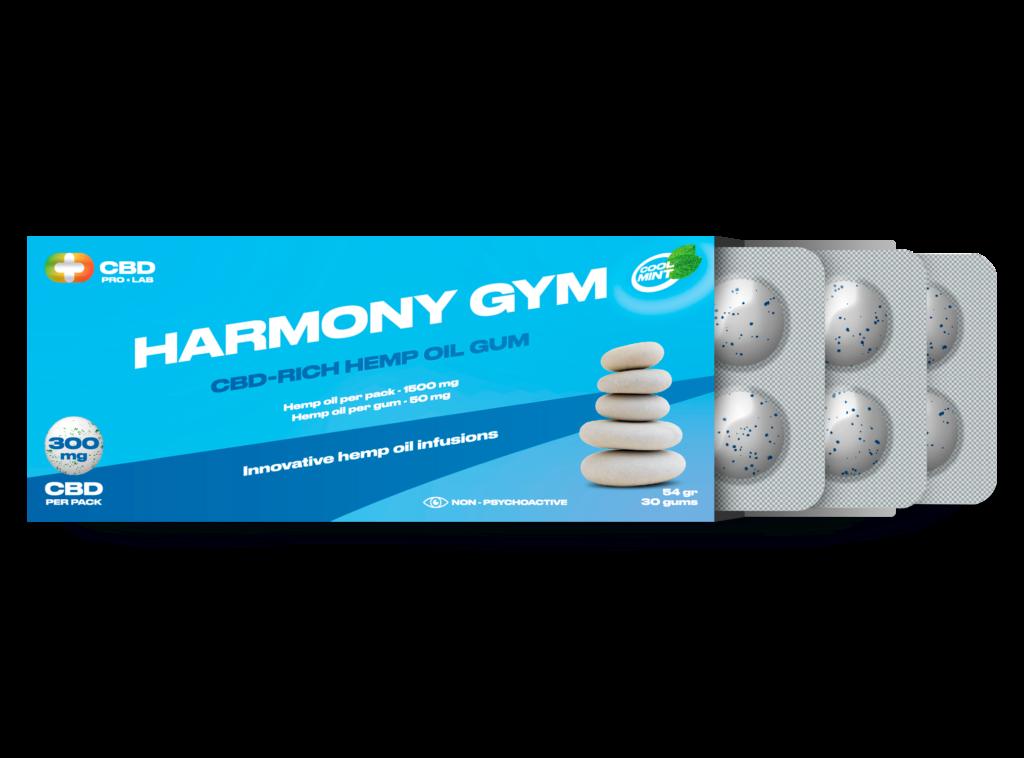 Harmony Gum CBD rich hemp oil gum 30 gums