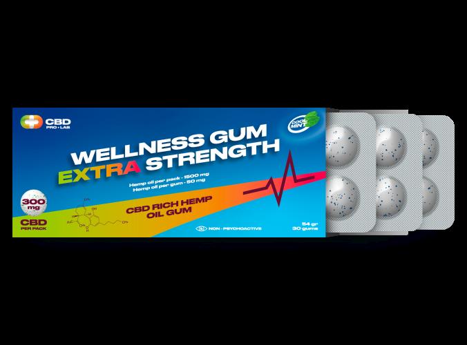 Wellness extra strength Gum CBD reach hemp oil gum 30 gums
