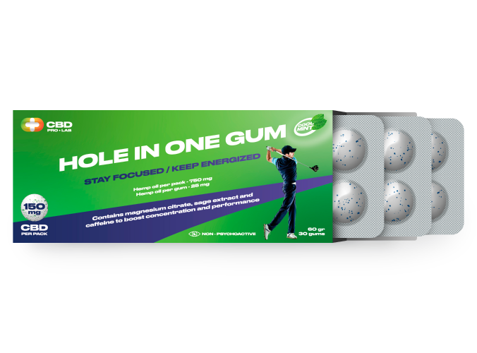 Hole in one Gum Stay focused/ Keep energized 30 gums